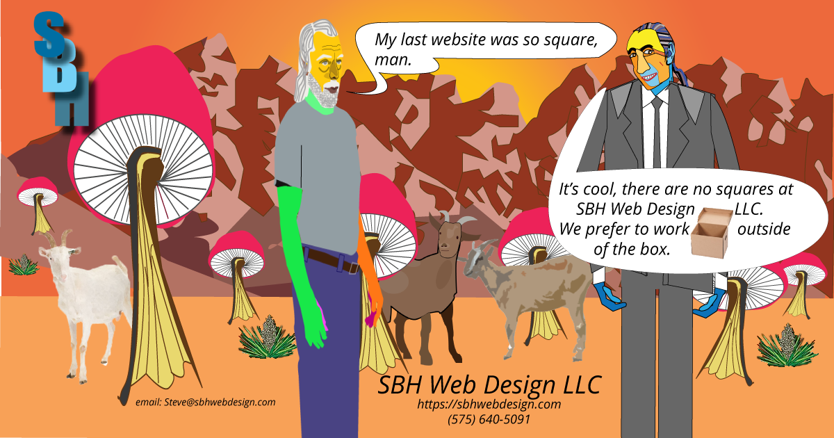 Advertisement for SBH Web Design LLC
